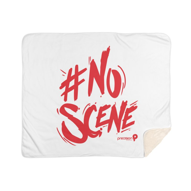 No Scene (Red) Home Sherpa Blanket Blanket by Precision Productions Artiste Shop