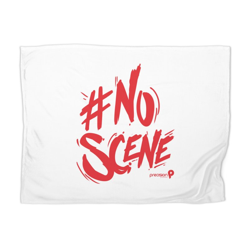 No Scene (Red) Home Blanket by Precision Productions Artiste Shop