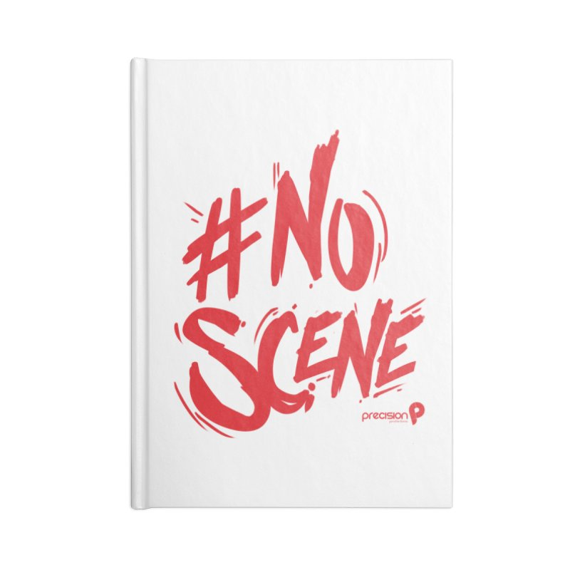 No Scene (Red) Accessories Lined Journal Notebook by Precision Productions Artiste Shop