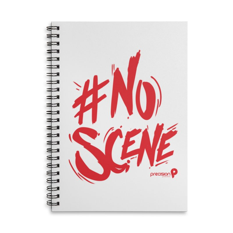 No Scene (Red) Accessories Lined Spiral Notebook by Precision Productions Artiste Shop