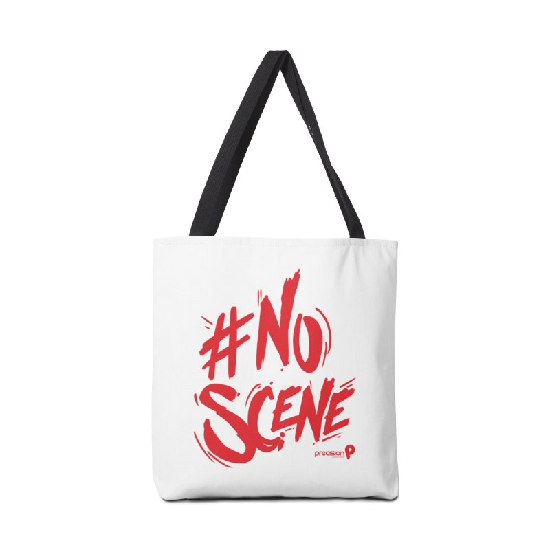 No Scene (Red) Accessories Tote Bag Bag by Precision Productions Artiste Shop