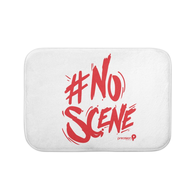 No Scene (Red) Home Bath Mat by Precision Productions Artiste Shop