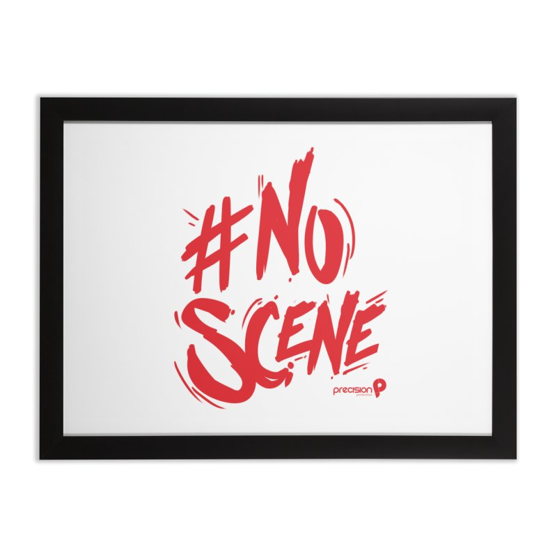No Scene (Red) Home Framed Fine Art Print by Precision Productions Artiste Shop