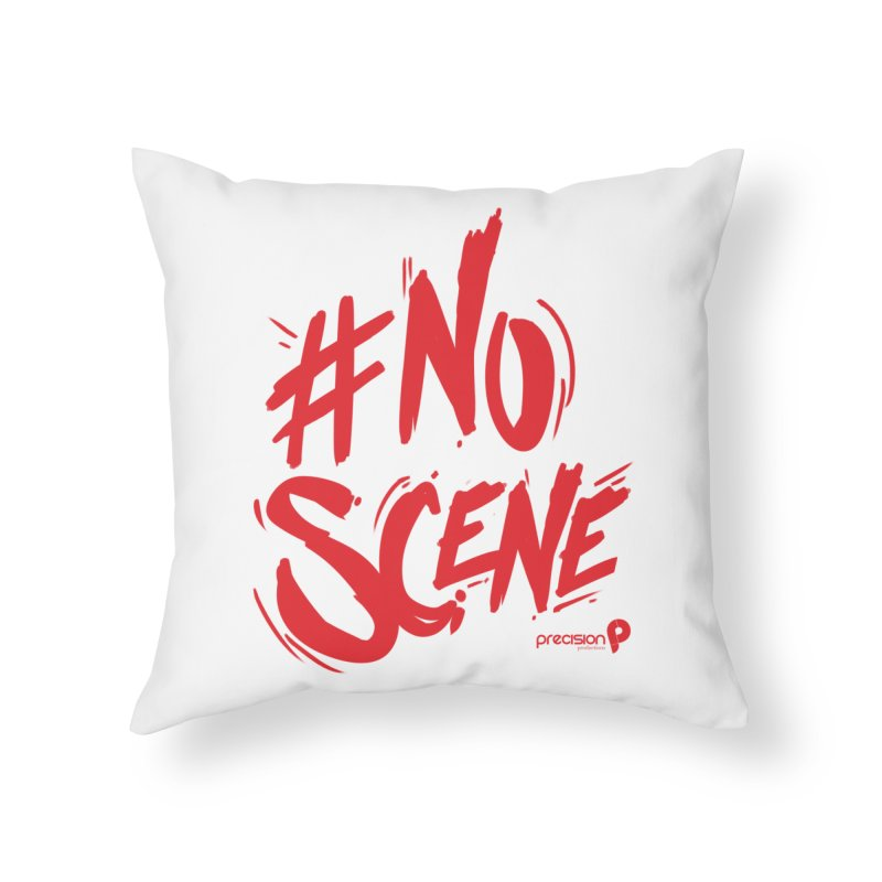 No Scene (Red) Home Throw Pillow by Precision Productions Artiste Shop