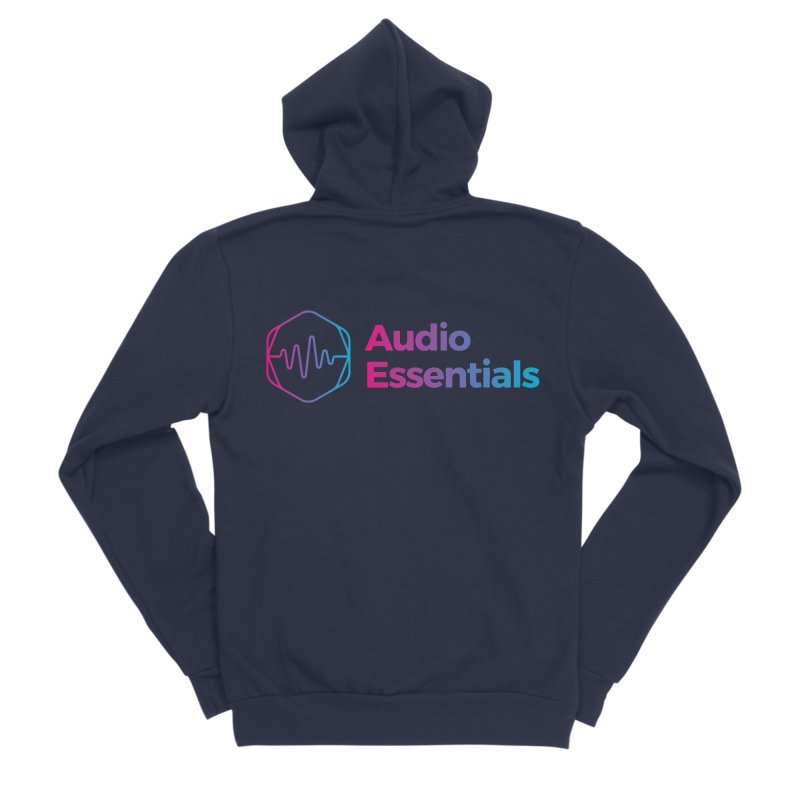 Audio Essentials Logo Men's Zip-Up Hoody by Precision Productions Artiste Shop