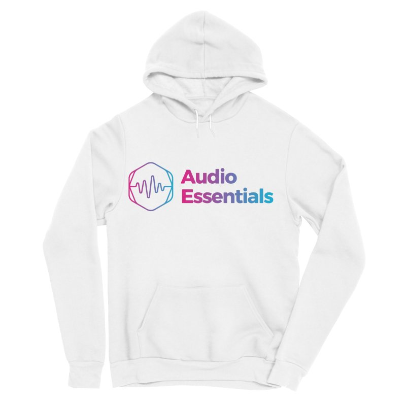 Audio Essentials Logo Men's Sponge Fleece Pullover Hoody by Precision Productions Artiste Shop