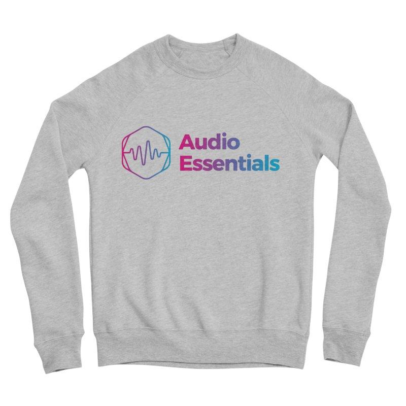 Audio Essentials Logo Men's Sponge Fleece Sweatshirt by Precision Productions Artiste Shop