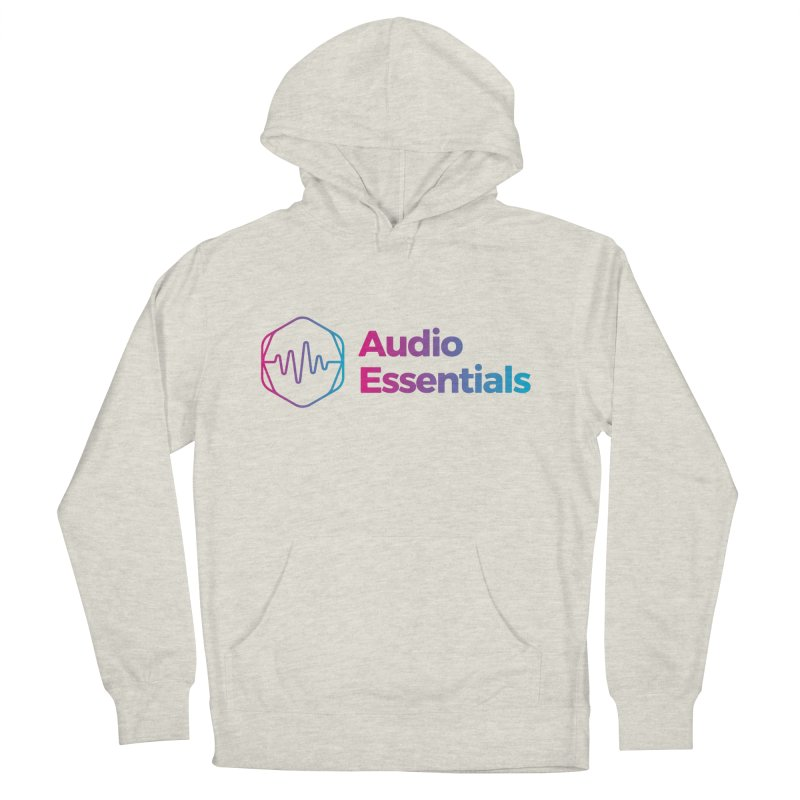 Audio Essentials Logo Men's French Terry Pullover Hoody by Precision Productions Artiste Shop