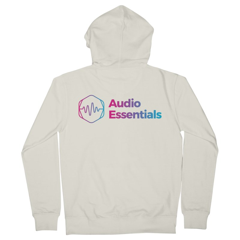 Audio Essentials Logo Men's French Terry Zip-Up Hoody by Precision Productions Artiste Shop