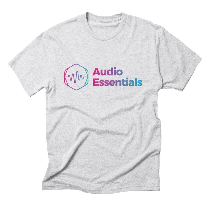 Audio Essentials Logo Men's Triblend T-Shirt by Precision Productions Artiste Shop