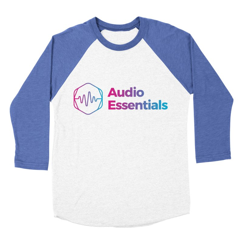 Audio Essentials Logo Women's Baseball Triblend Longsleeve T-Shirt by Precision Productions Artiste Shop