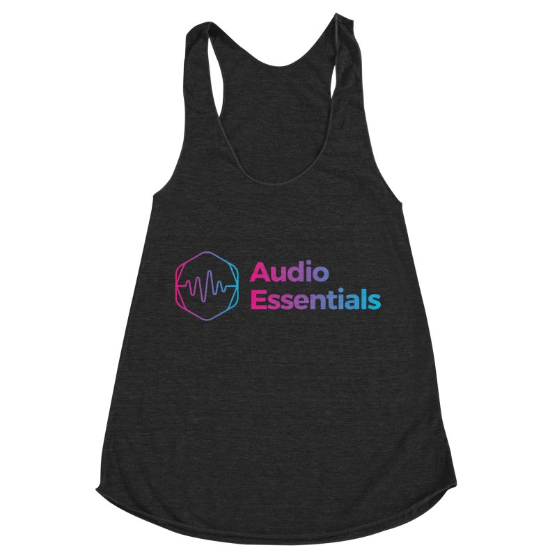 Audio Essentials Logo Women's Racerback Triblend Tank by Precision Productions Artiste Shop