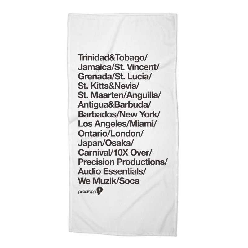 Countries Tee! Accessories Beach Towel by Precision Productions Artiste Shop