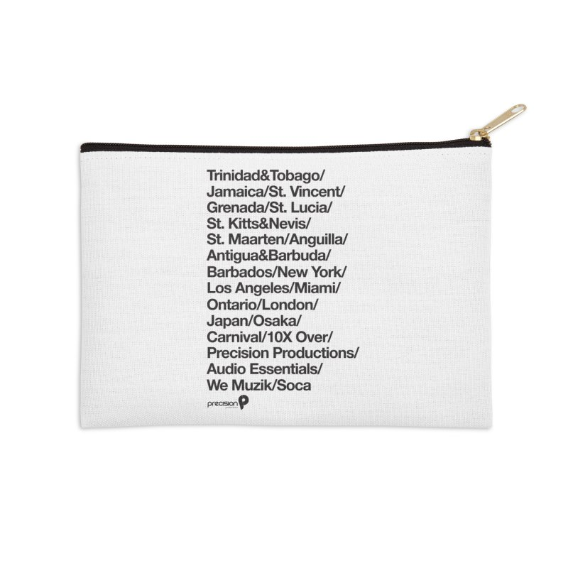 Countries Tee! Accessories Zip Pouch by Precision Productions Artiste Shop