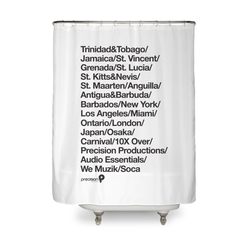 Countries Tee! Home Shower Curtain by Precision Productions Artiste Shop