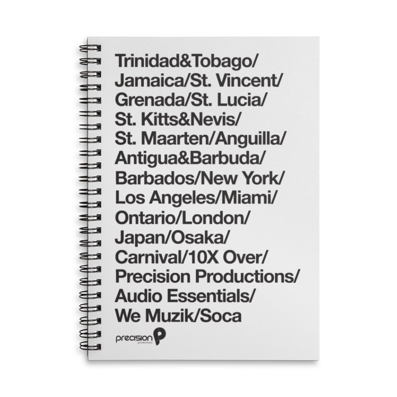 Countries Tee! Accessories Lined Spiral Notebook by Precision Productions Artiste Shop