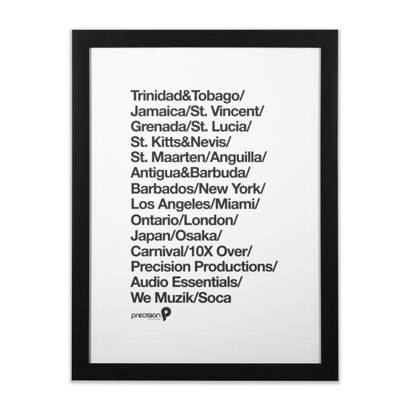 Countries Tee! Home Framed Fine Art Print by Precision Productions Artiste Shop