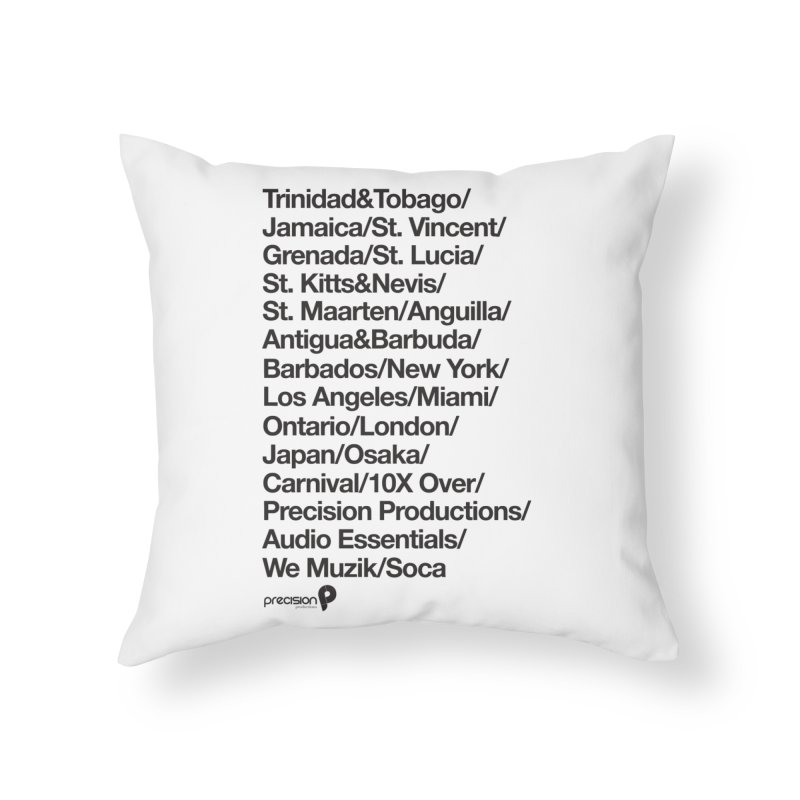 Countries Tee! Home Throw Pillow by Precision Productions Artiste Shop