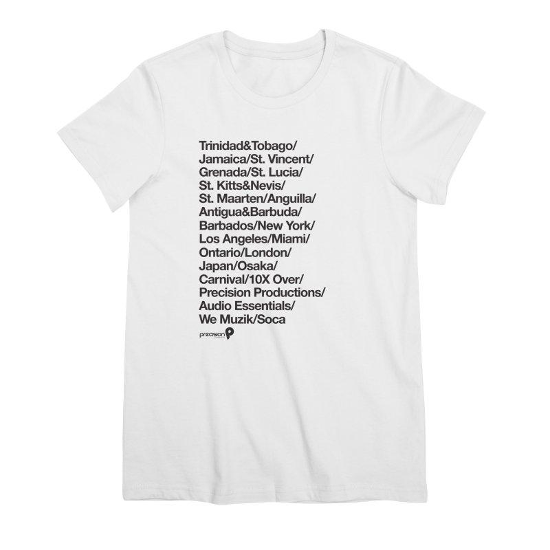Countries Tee! Women's Premium T-Shirt by Precision Productions Artiste Shop