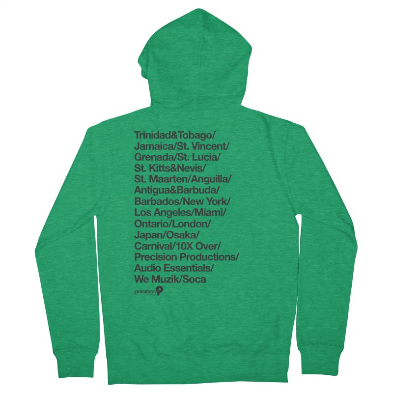 Countries Tee! Men's Zip-Up Hoody by Precision Productions Artiste Shop