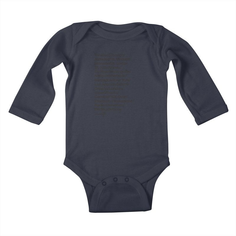Countries Tee! Kids Baby Longsleeve Bodysuit by Precision Productions Artiste Shop