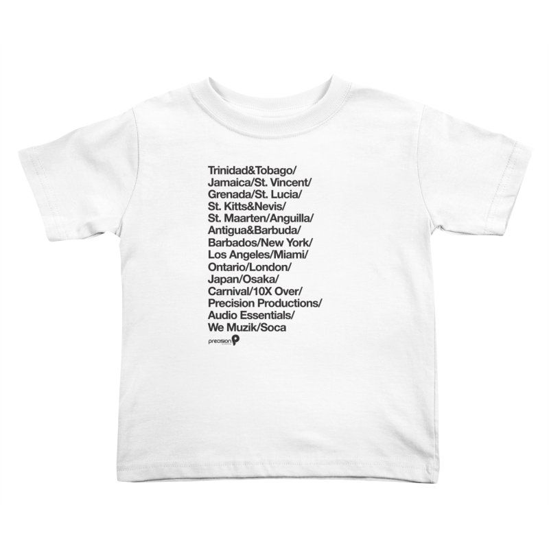 Countries Tee! Kids Toddler T-Shirt by Precision Productions Artiste Shop