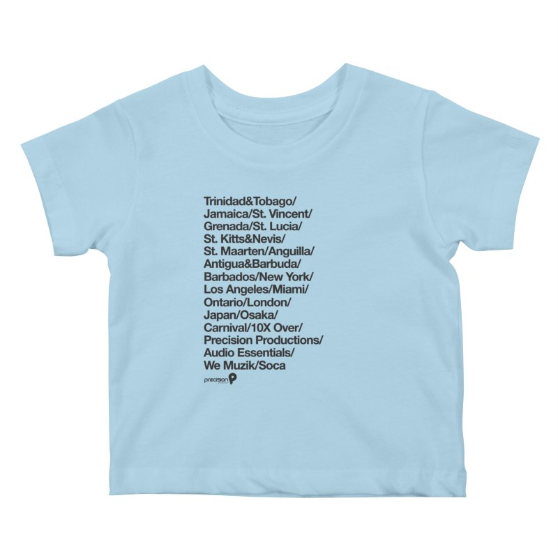 Countries Tee! Kids Baby T-Shirt by Precision Productions Artiste Shop
