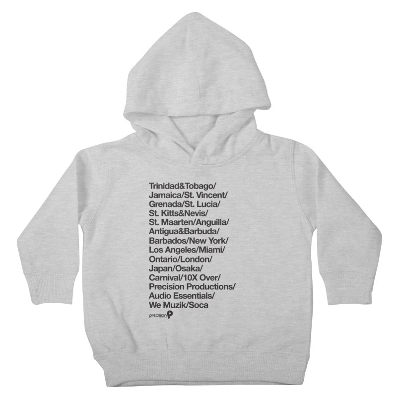 Countries Tee! Kids Toddler Pullover Hoody by Precision Productions Artiste Shop