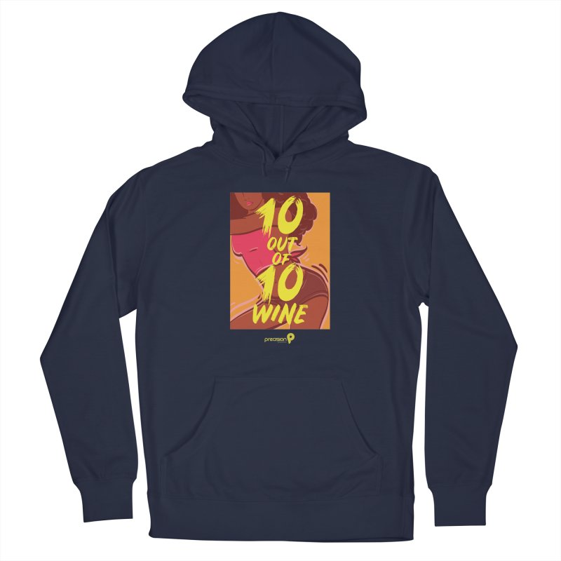 10 Out Of 10 Wine Men's Pullover Hoody by Precision Productions Artiste Shop