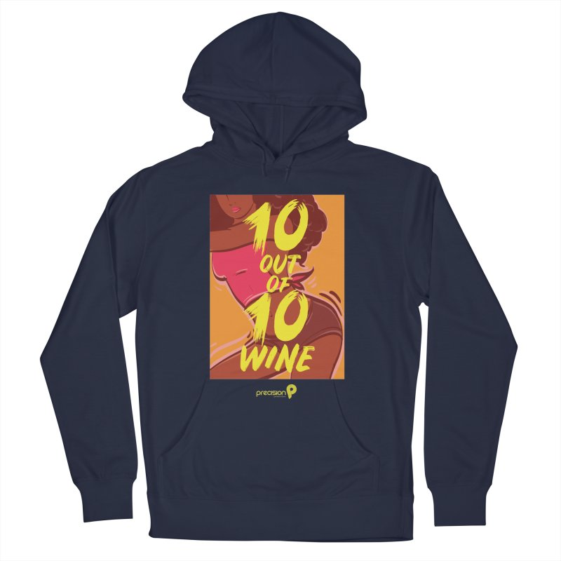 10 Out Of 10 Wine Men's French Terry Pullover Hoody by Precision Productions Artiste Shop