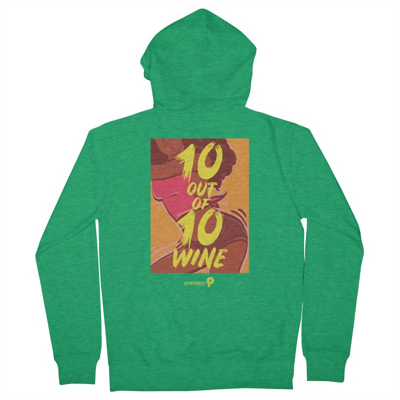 10 Out Of 10 Wine Men's Zip-Up Hoody by Precision Productions Artiste Shop