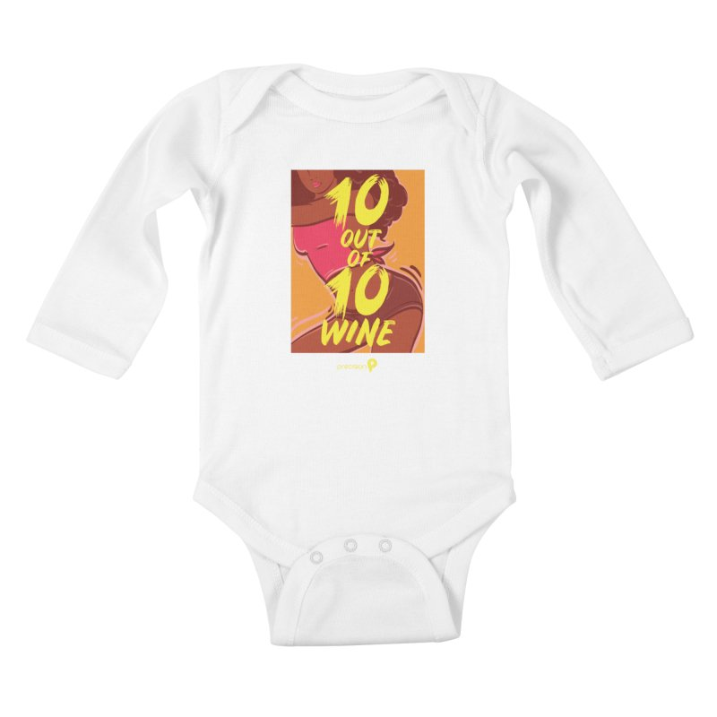 10 Out Of 10 Wine Kids Baby Longsleeve Bodysuit by Precision Productions Artiste Shop