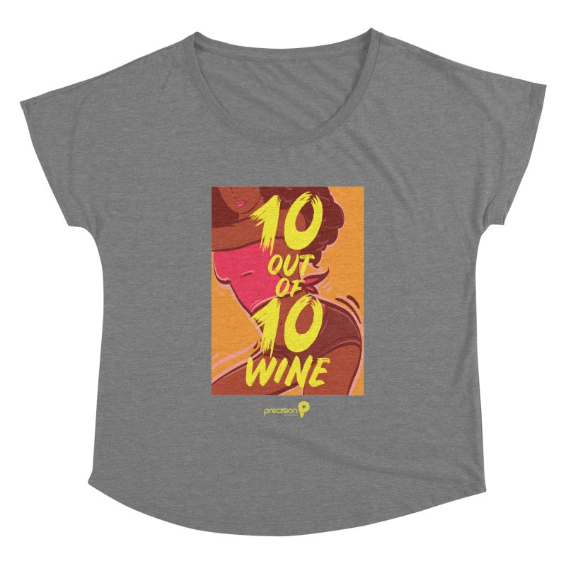 10 Out Of 10 Wine Women's Scoop Neck by Precision Productions Artiste Shop
