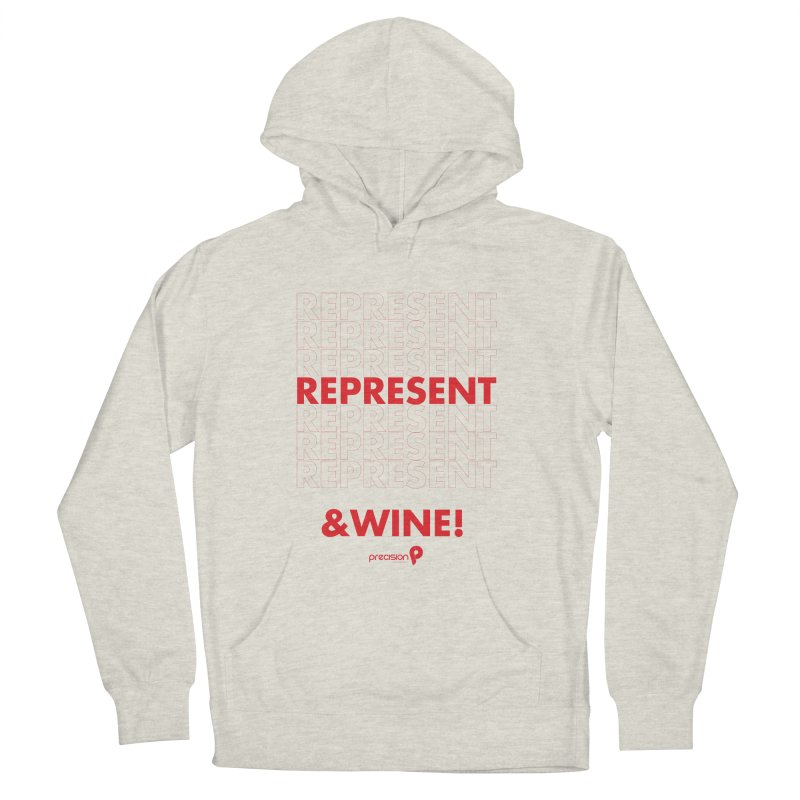Represent & Wine Men's French Terry Pullover Hoody by Precision Productions Artiste Shop