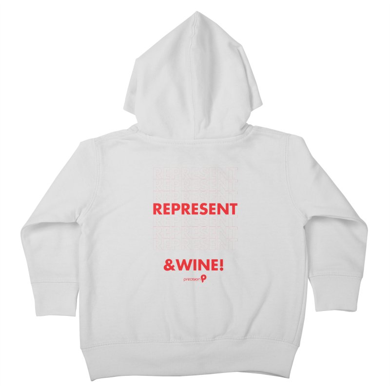 Represent & Wine Kids Toddler Zip-Up Hoody by Precision Productions Artiste Shop