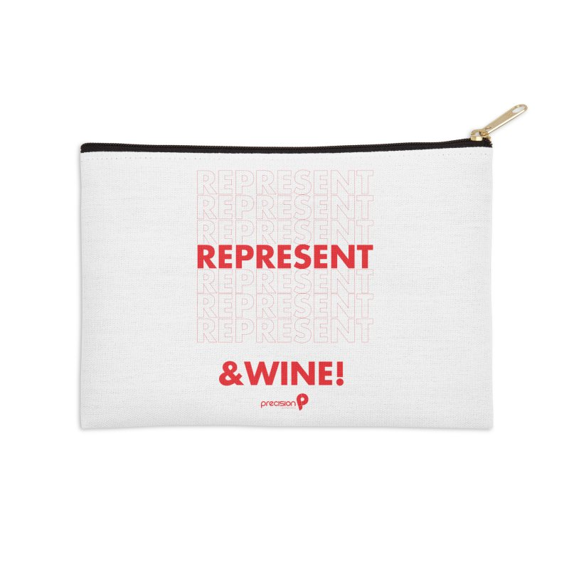 Represent & Wine Accessories Zip Pouch by Precision Productions Artiste Shop