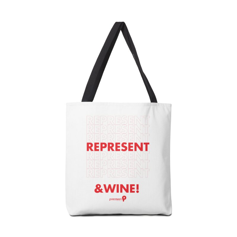 Represent & Wine Accessories Tote Bag Bag by Precision Productions Artiste Shop