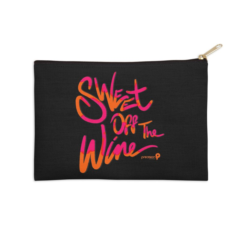 Sweet Off The Wine Accessories Zip Pouch by Precision Productions Artiste Shop