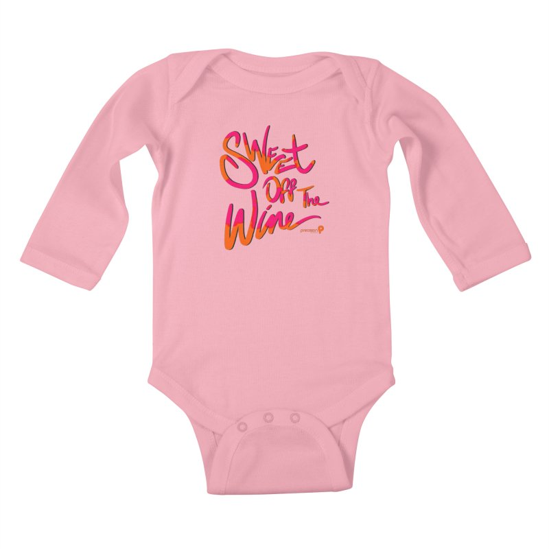 Sweet Off The Wine Kids Baby Longsleeve Bodysuit by Precision Productions Artiste Shop