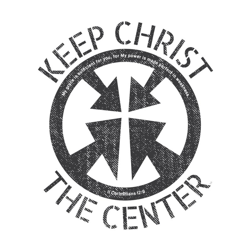 Keep Christ the Center - Charcoal Men's T-Shirt by Presley Design Studio Shop
