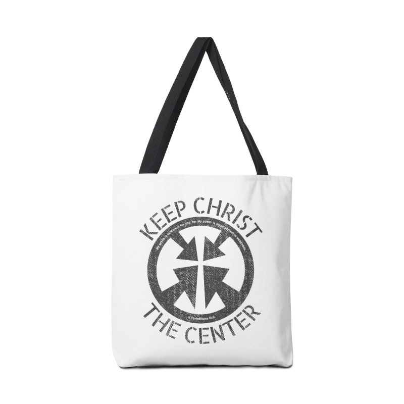 Keep Christ the Center - Charcoal Accessories Tote Bag Bag by Presley Design Studio Shop