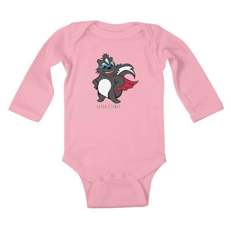 Super Hero Stinky Skunk Kids Baby Longsleeve Bodysuit by Presley Design Studio Shop