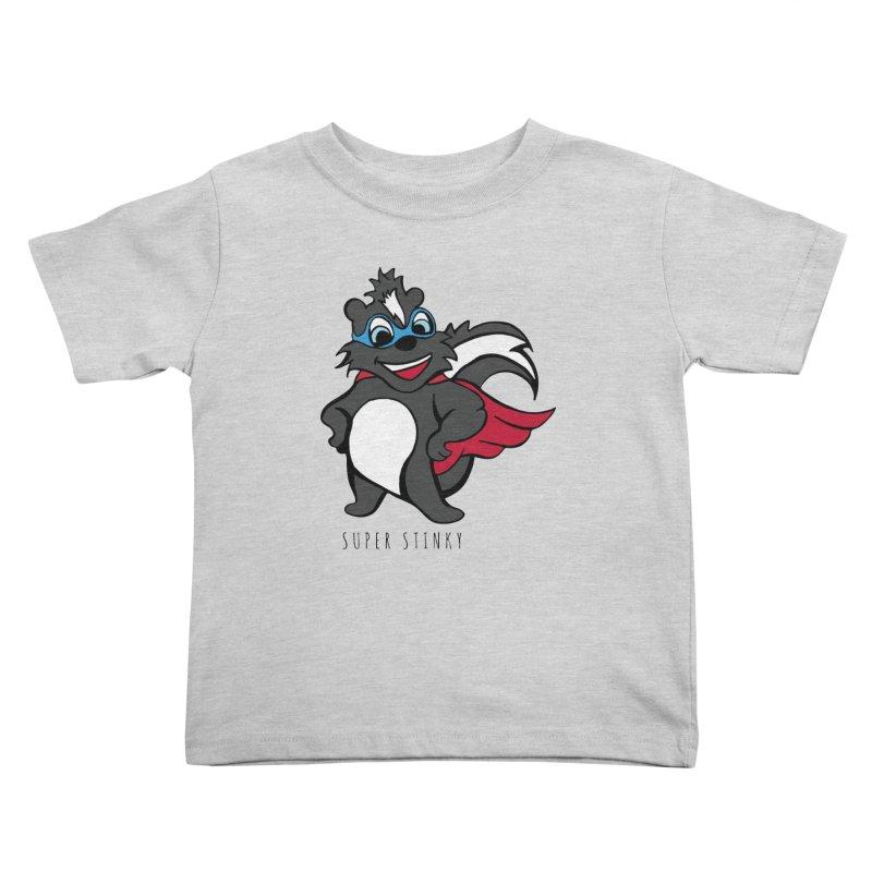 Super Hero Stinky Skunk Kids Toddler T-Shirt by Presley Design Studio Shop