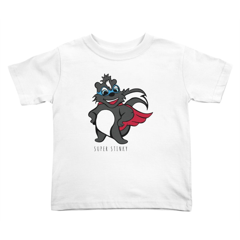 Super Hero Stinky Skunk Kids Toddler T-Shirt by Presley Design Studio Shop