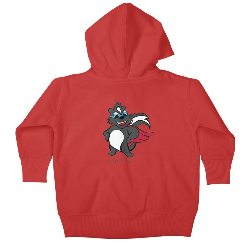 Super Hero Stinky Skunk Kids Baby Zip-Up Hoody by Presley Design Studio Shop