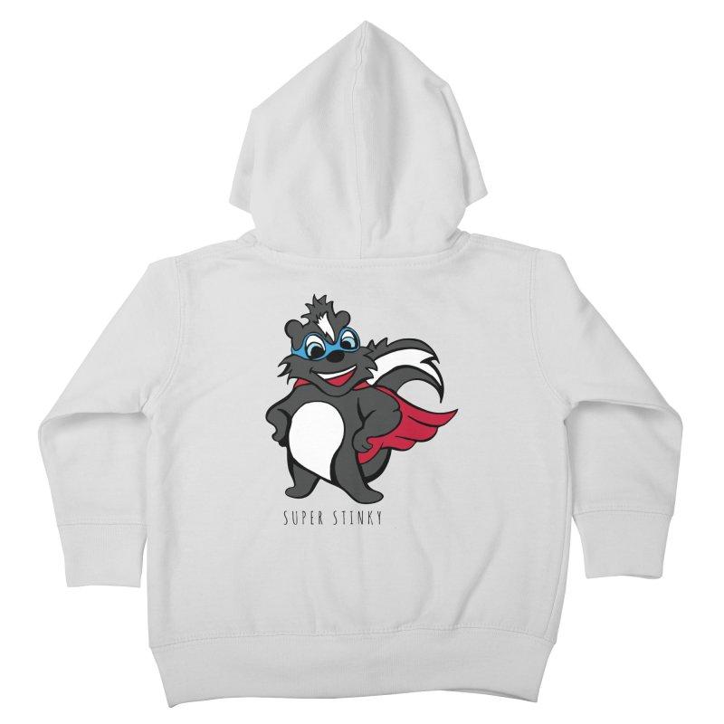 Super Hero Stinky Skunk Kids Toddler Zip-Up Hoody by Presley Design Studio Shop
