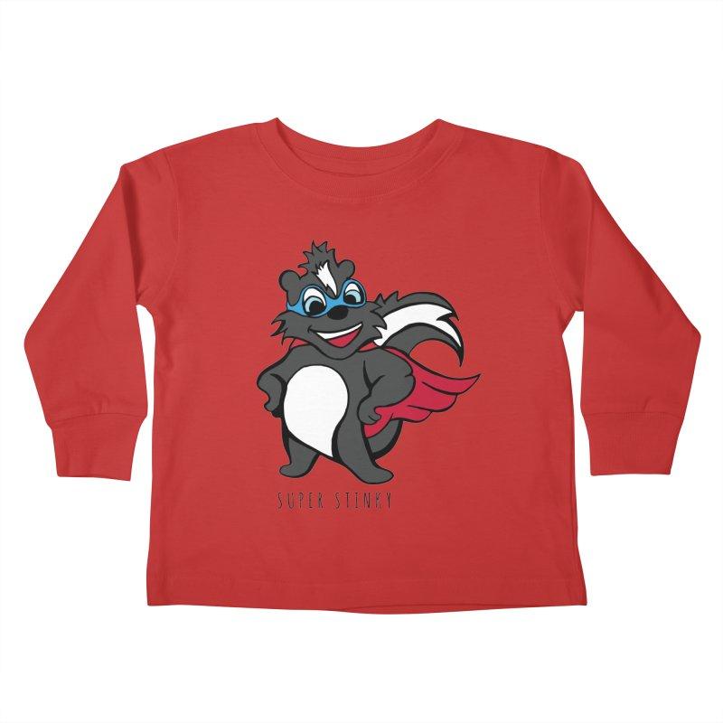 Super Hero Stinky Skunk Kids Toddler Longsleeve T-Shirt by Presley Design Studio Shop