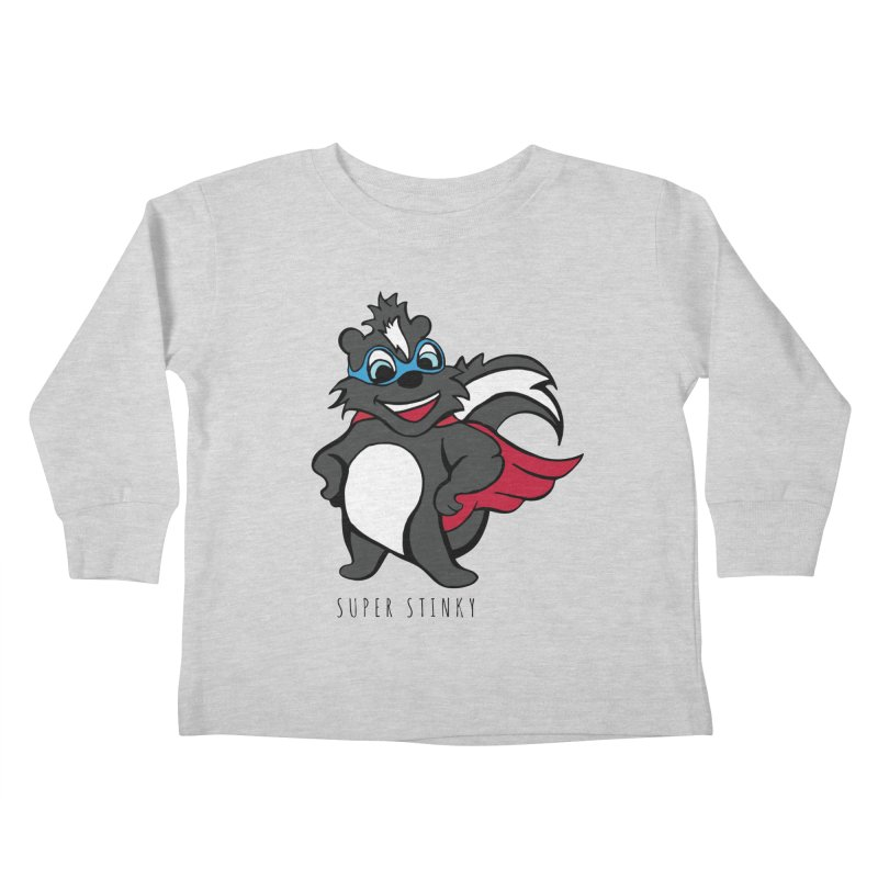 Super Hero Stinky Skunk Kids Toddler Longsleeve T-Shirt by Presley Design Studio Shop