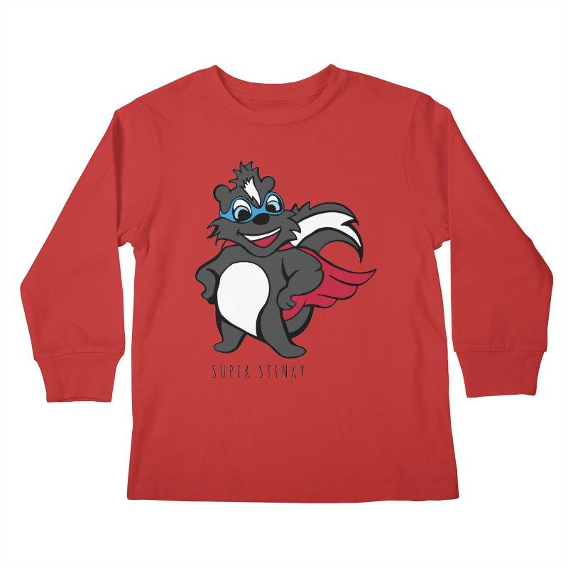 Super Hero Stinky Skunk Kids Longsleeve T-Shirt by Presley Design Studio Shop