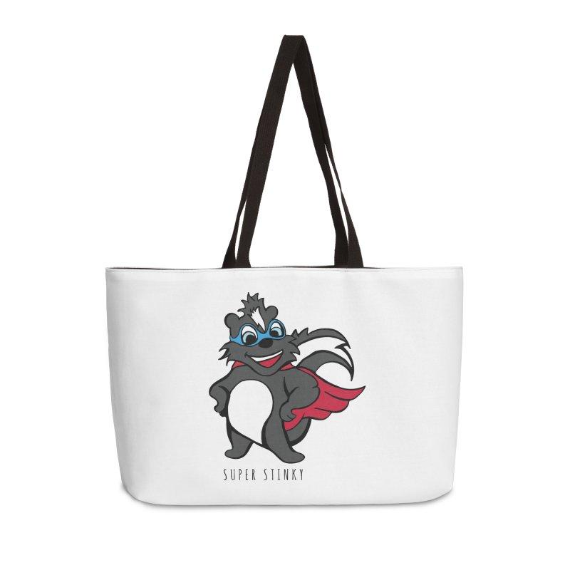 Super Hero Stinky Skunk Accessories Weekender Bag Bag by Presley Design Studio Shop